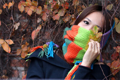 戴围巾是个技术活 戴的好冬天没烦恼