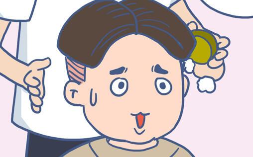 【漫画】被理发师忽悠,我晾上我的膝盖