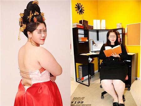 """减肥励志标本:""""200斤最美女胖子""""8周甩掉58斤"""