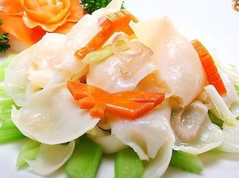 调理肠胃推荐一道菜:百花榆耳炒螺片